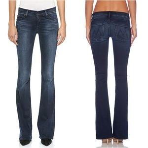 MOTHER Cruiser flare jeans dark blue NWT hemmed 27